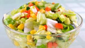 Овощной салат при гастрите
